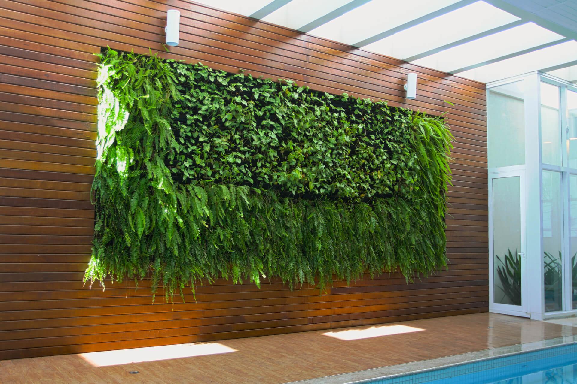 Galeria de Fotos Ecotelhado Ecotelhado #6C431D 4822x3211 Banheiro Com Jardim Vertical