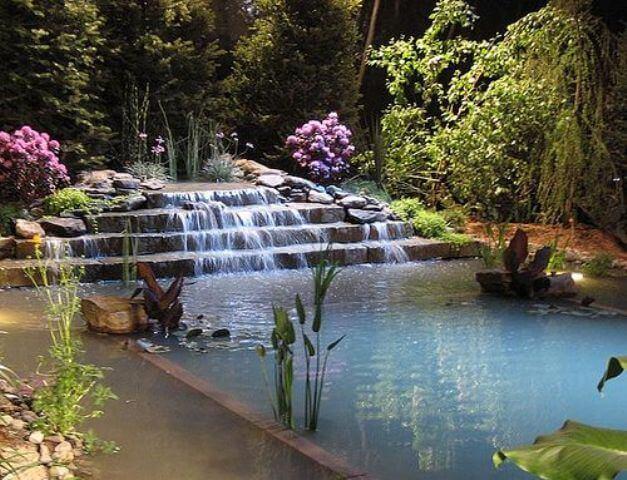 Piscina natural alternativa para quem ama verde ecotelhado - Swimming pools made to look like ponds ...