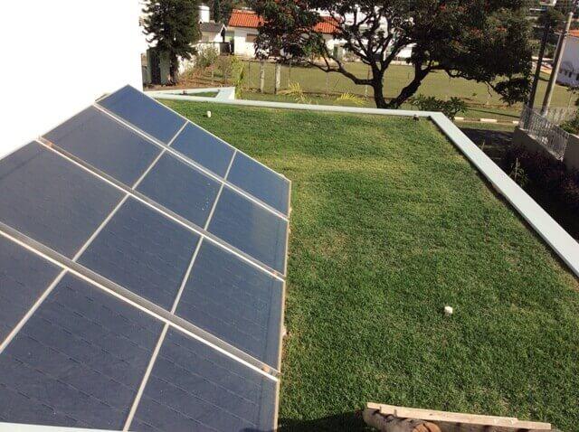 telhado vede e energia solar