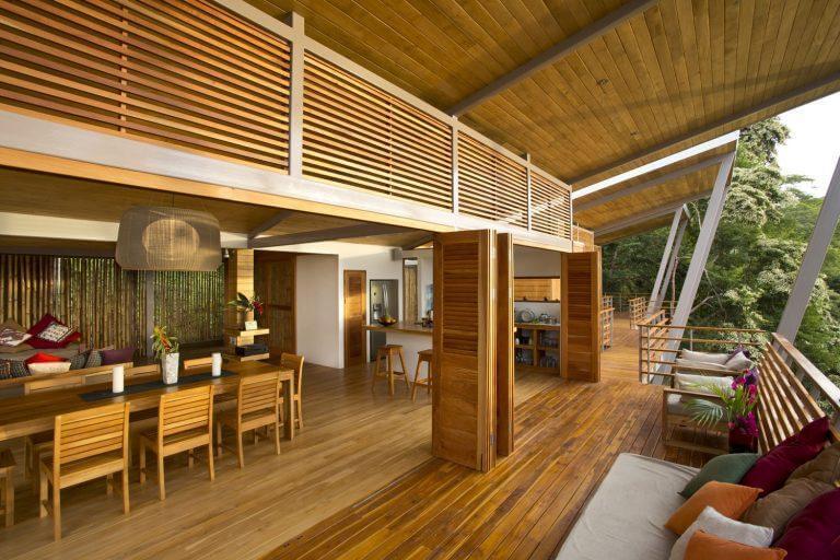 ambiente residencial com design biofílico