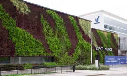 jardim vertical parede verde unisinos porto alegre