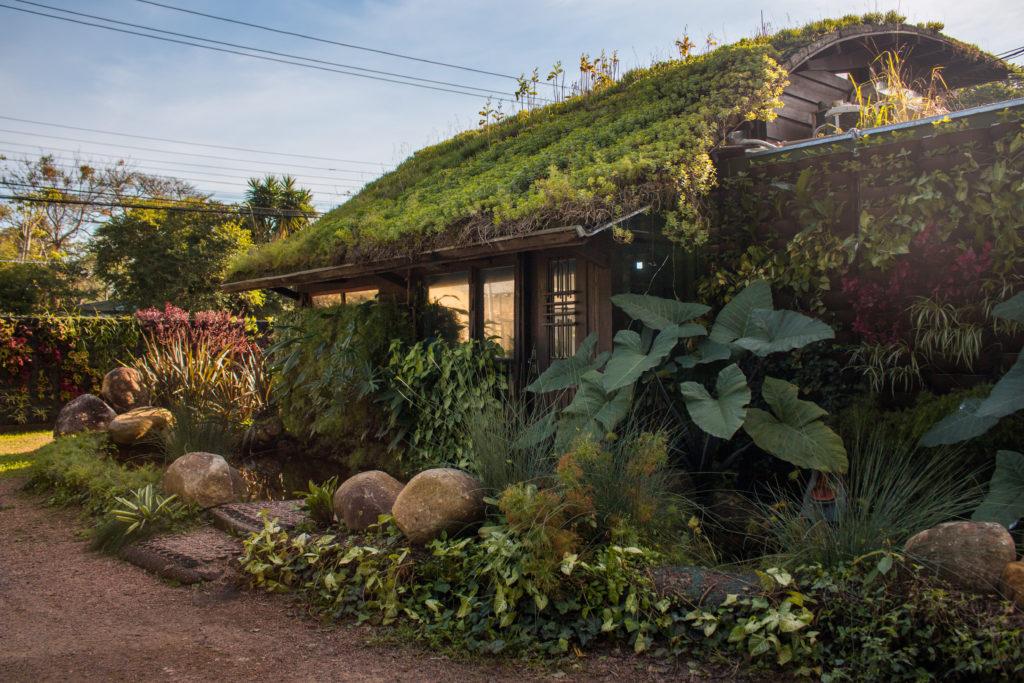 casa com sistema construtivo integrado e biofilia na arquitetura