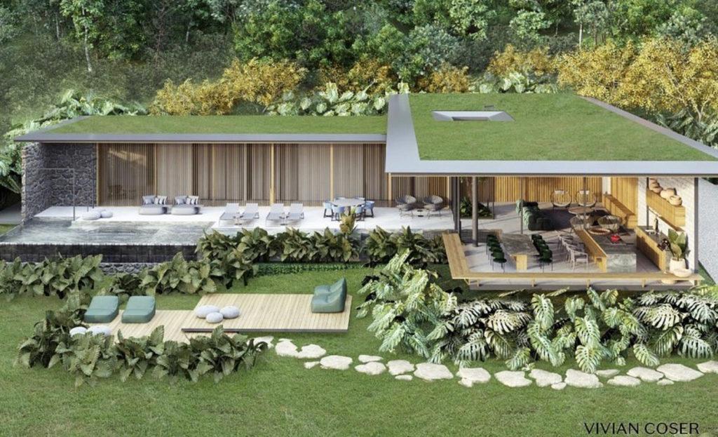 projeto residencial que inclui biofilia na arquitetura