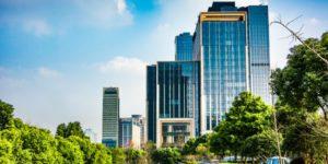 vista panoramica de uma cidade com projeto de revitalizacao urbana
