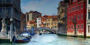 paisagem famosa da cidade de veneza