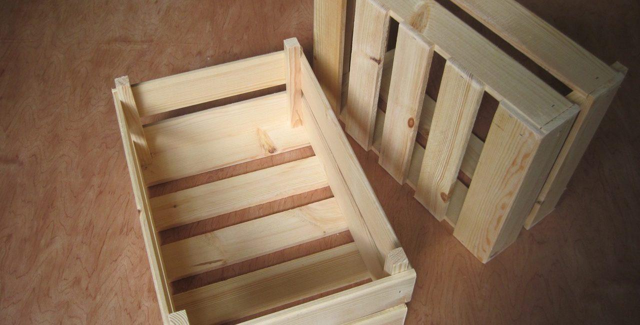 caixotes de madeira para decoração sustentável